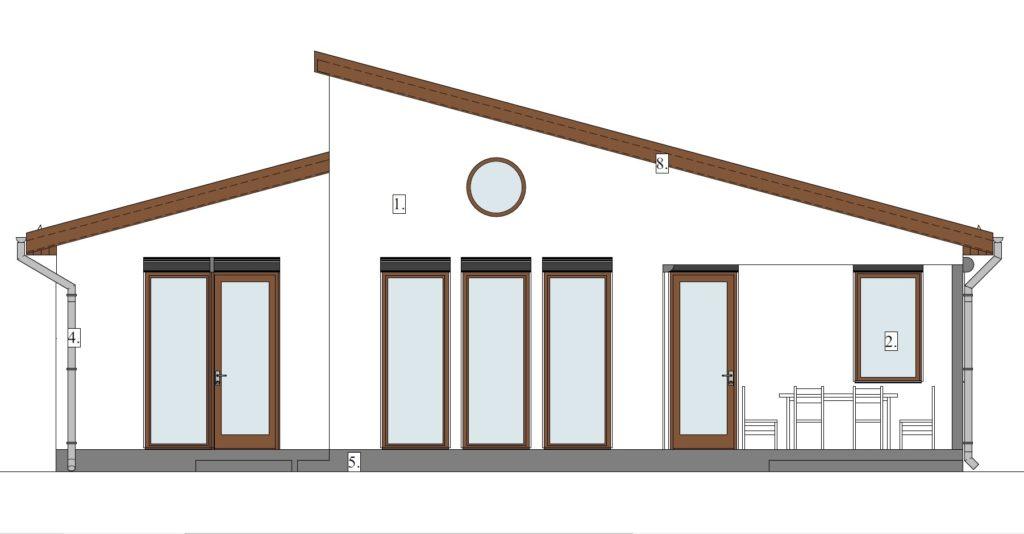 Álomotthon megteremtése - homlokzat délnyugat