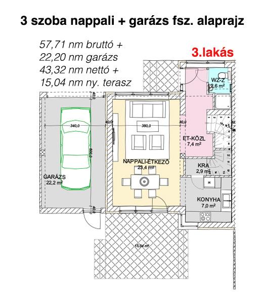 3. lakás földszint alaprajz