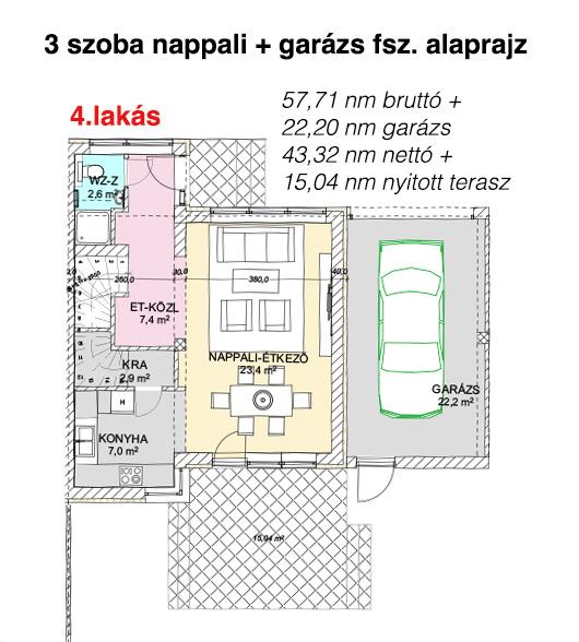 4. lakás földszint alaprajz